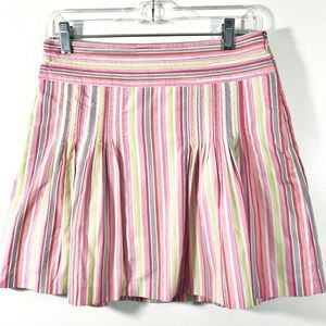 J. Crew Pleated Striped Mini Skirt 2